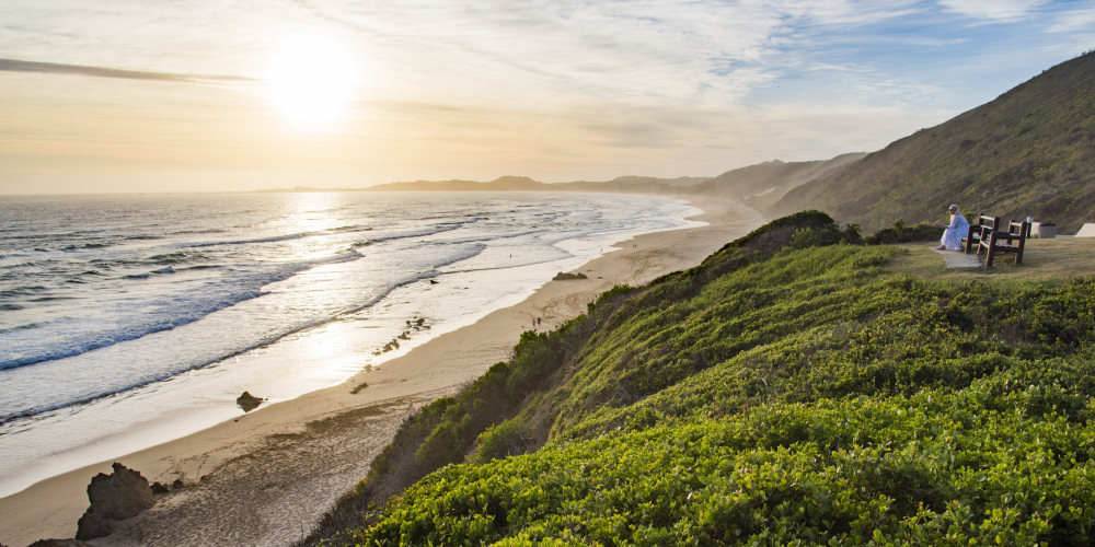 watch the waves from a view spot at Brenton-on-Sea