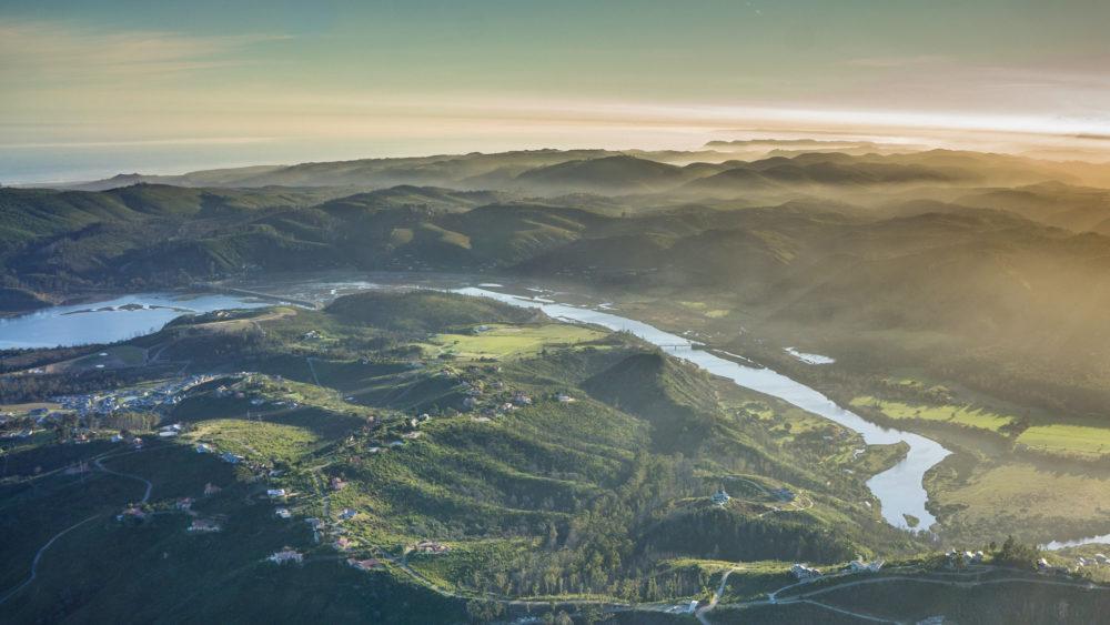 Aerial view of Knysna