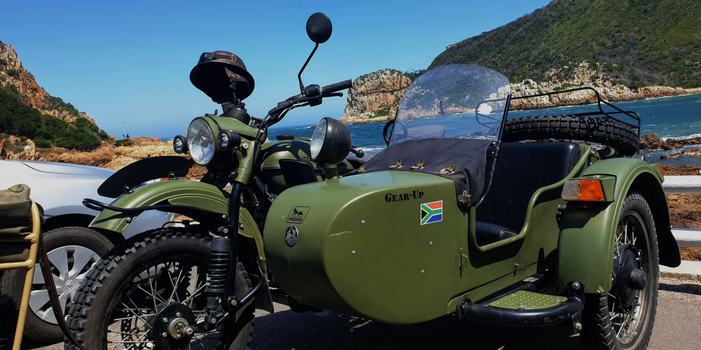 Explore Knysna in a classic motorcycle side-car
