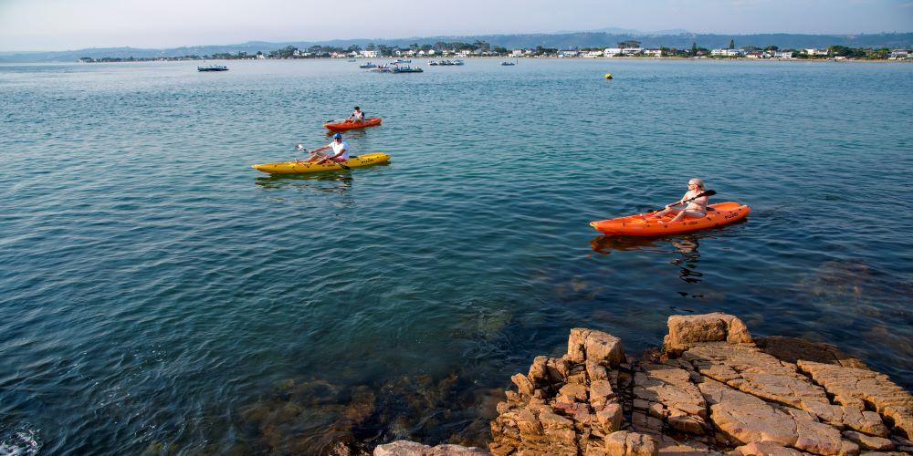 Paddlers on the Knysna lagoon
