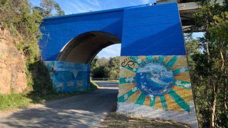 Mural on the railway bridge
